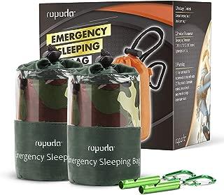ROPODA Emergency Sleeping Bag Survival Bivy Sack - Use as Emergency Bivy Sack, Survival Sleeping Bag, Mylar Emergency Blanket-Includes Stuff Sack with Survival Whistle