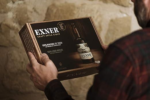 EXNER Craft Apple Cider - Estuche/Pack de 4 botellines de 33 cl - Formato regalo - Sidra Artesana 100% Manzana - Sin Concentrado (4 x 33 cl Pack)