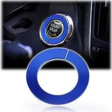 Xotic Tech Engine Start Stop Push Button Knob Switch Decor Trim Ring For Infiniti - Blue