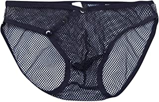 NREALY Men's Sexy Underwear Letter Printed Boxer Briefs Shorts Bulge Pouch Underpants