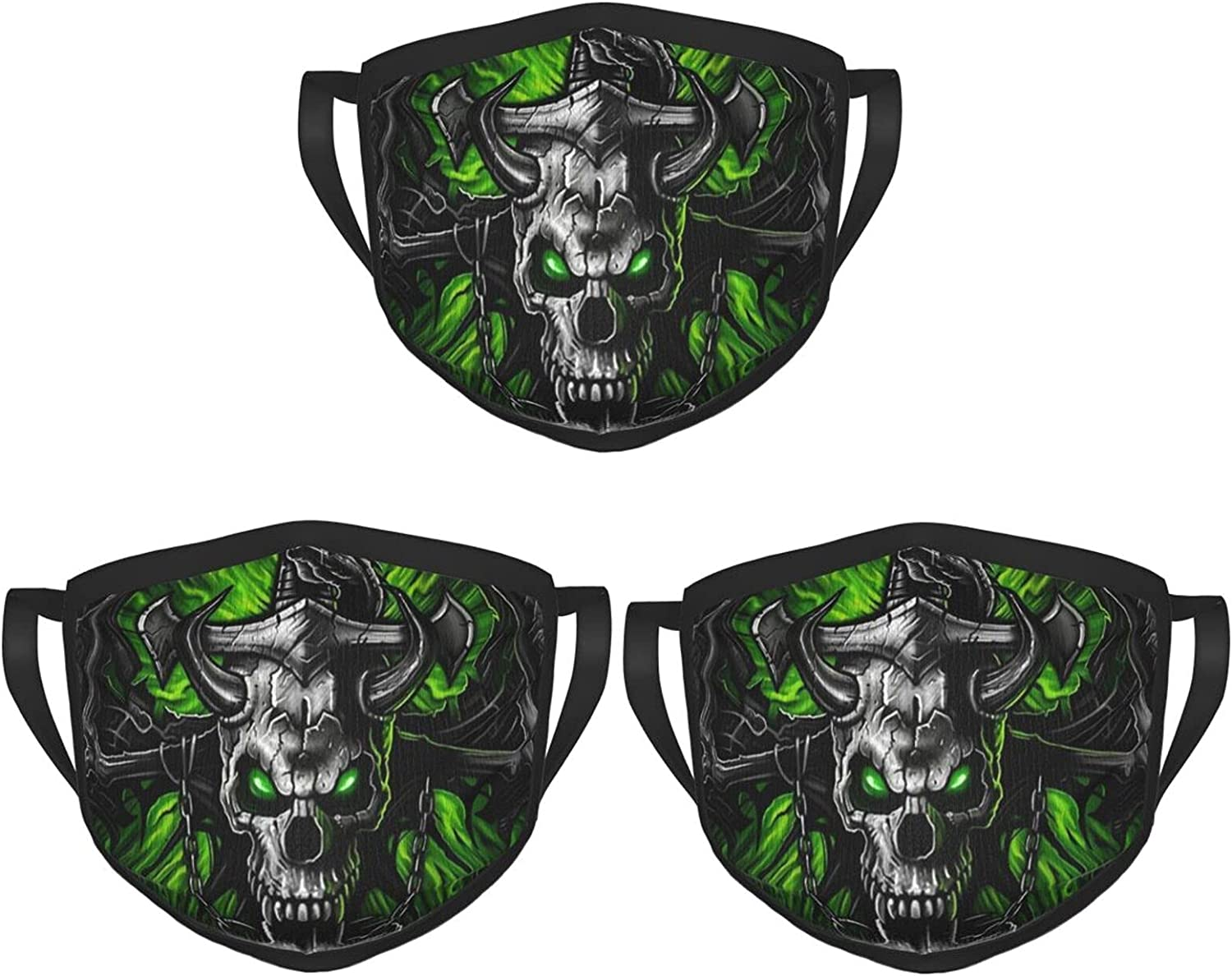 Balaclava Earmuffs Green Skull Winding Sword Dragon Face Mouth Cover Mask Reusable Washable Scarf Towel Cover Headwrap
