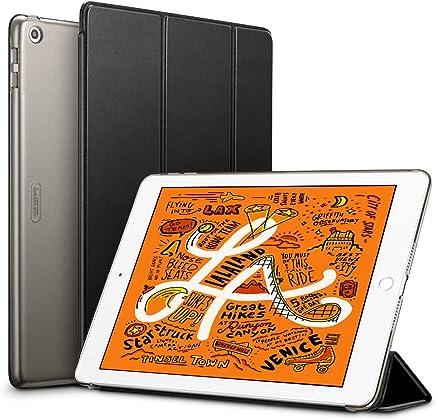 ESR iPad Mini 5 2019 ケース 軽量 薄型 PU レザー スマート カバー 耐衝撃 傷防止 クリア ハード 背面 ケース 三つ折り スタンド オートスリープ ウェイクアップ 機能 iPad Mini5(第五世代) 専用(ブラック)