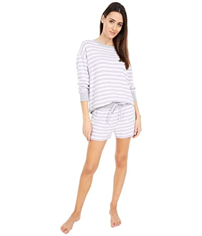 Splendid Westport Shorty PJ (Weekend Stripe/Lilac Heather) Women