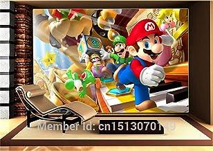 Aangepaste Grote Foto Behang Super Mario Muurschildering Klassieke Games 3D Comic Room Decor Muur Art Slaapkamer Hal Achte...
