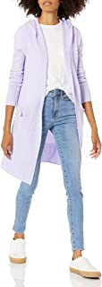 Goodthreads Women's Mid-Gauge Stretch Hooded Longline Cardigan Sweater