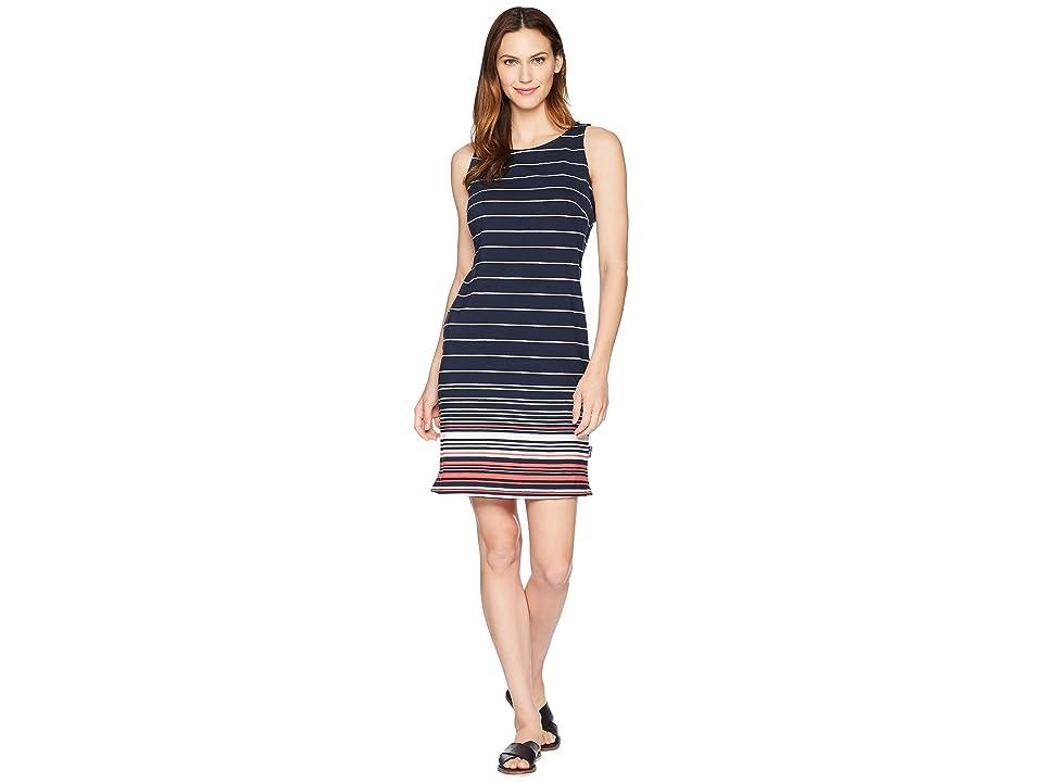 Columbia Harborside Knit Sleeveless Dress (Collegiate Navy Stripe) Women
