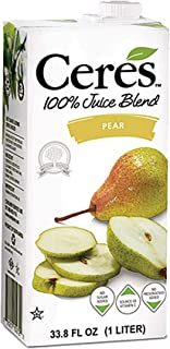 Ceres 100% All Natural Pure Fruit Juice Blend, Pear - Gluten Free, Rich in Vitamin C, No Added Sugar or Pre...