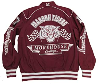 Morehouse College Tigers Varsity Trimmed HBCU Lack College Mens Big & Tall Jacket