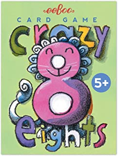 eeBoo Crazy Eights Card Game for Kids