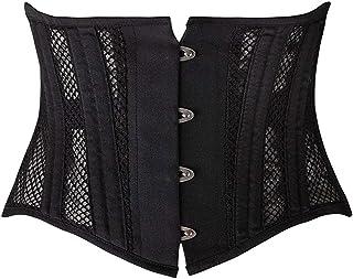 Camellias Women's 26 Steel Boned Corset Short Torso Heavy Duty Waist Trainer Corset for Weight Loss