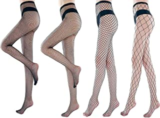 Fishnets Tights Ladies Fishnet Stockings Thin Fishnet Pantyhose Black Cross Mesh Stockings Sexy Pantyhose for Women(large-...