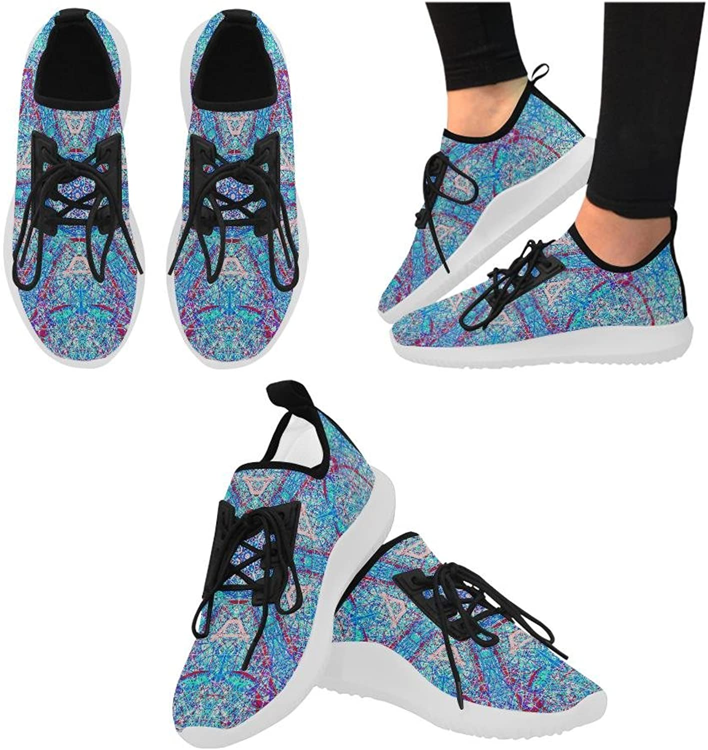 THLEUDRON Milkyway Dolphin Ultra Light Running shoes for Women (Model 035)