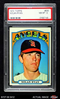 1972 Topps # 595 Nolan Ryan Los Angeles Angels (Baseball Card) PSA 8 - NM/MT Angels