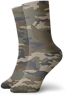 SundriesShop, Camuflaje Acuarela Moda Calcetines largos Medias cálidas suaves para hombres Mujeres Calcetines deportivos 30 cm