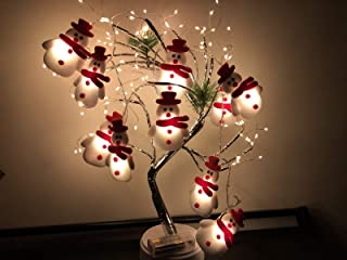 CheeseandU Christmas LED String Light 10 LED Plush Xmas Snowman String Light 5.4 ft/ 1.65 Meter Battery Operated Christmas...