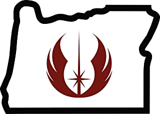 Jedi Patch Oregon Embroidered Thread Patch for Jedi, Instant Application with a Sticky-Back, No Ironing Required. Apply to Clothing, Coolers, Water Bottles, Glass, Star Wars Yoda Skywalker Darth