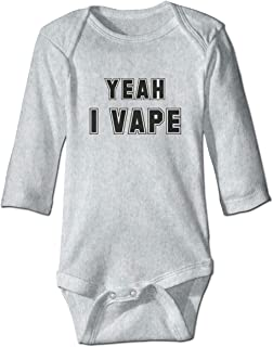 6827f204963e Angkella Yeah I Vape Newborn Toddler Baby Long Sleeve Bodysuit Jumpsuit  Outfits