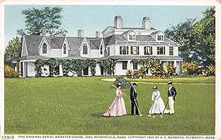 Marshfield Massachusetts Daniel Webster House Croquet Antique Postcard J67206