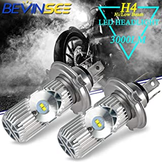 Bevinsee Motorcycle H4 9003 Headlight LED White Hi/Low Beam Bulbs Replace GL1500 Goldwing 1988-1997,2pcs