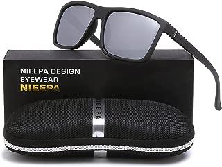 NIEEPA Men's Sports Polarized Sunglasses Square Frame Glasses
