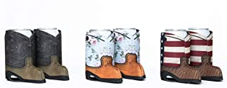 Cowboy Boot Beer Can Koozie 6-Pack - Beer Can Sleeve and Insulator - Beer Can Cover Keeps Drink Cold and Hand Dry