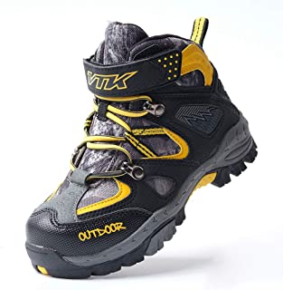 Kid Hiking Boots Thick Warm Snow Slip Resistance Sole Kid Outdoor Walking Shoes Climbing Sneakers for Boys Girls