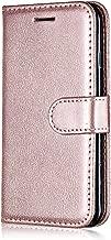 LG K7 Case, Bear Village® PU Wallet Protective Case with Credit Card Holder Slot, Shock-Proof Magnetic Flip Folio Cover for LG K7 (#4 Rose Gold)