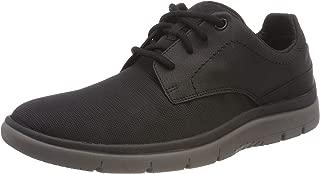 Clarks Men's Tunsil Plain Black Mesh Boat Shoes