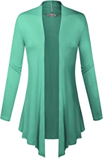 BIADANI Women Open Front Lightweight Cardigan Mint 2 Large
