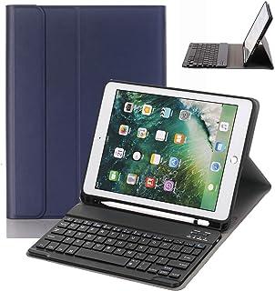Numeo iPad 9.7 Keyboard Case with Pencil Holder for iPad 9.7 2018&2017,iPad Pro 9.7,iPad Air 2&1 Smart Stand PU Leather Ca...