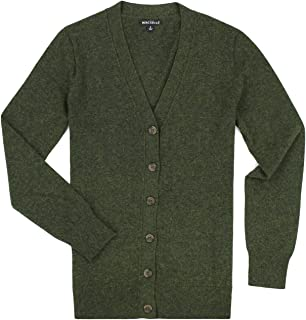 J. Crew Women's Wool Blend V-Neck Button Down Cardigan, Multiple Colors and Sizes