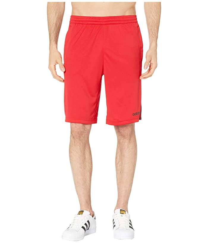 adidas D2M 3-Stripe Shorts (Scarlet/Black) Men