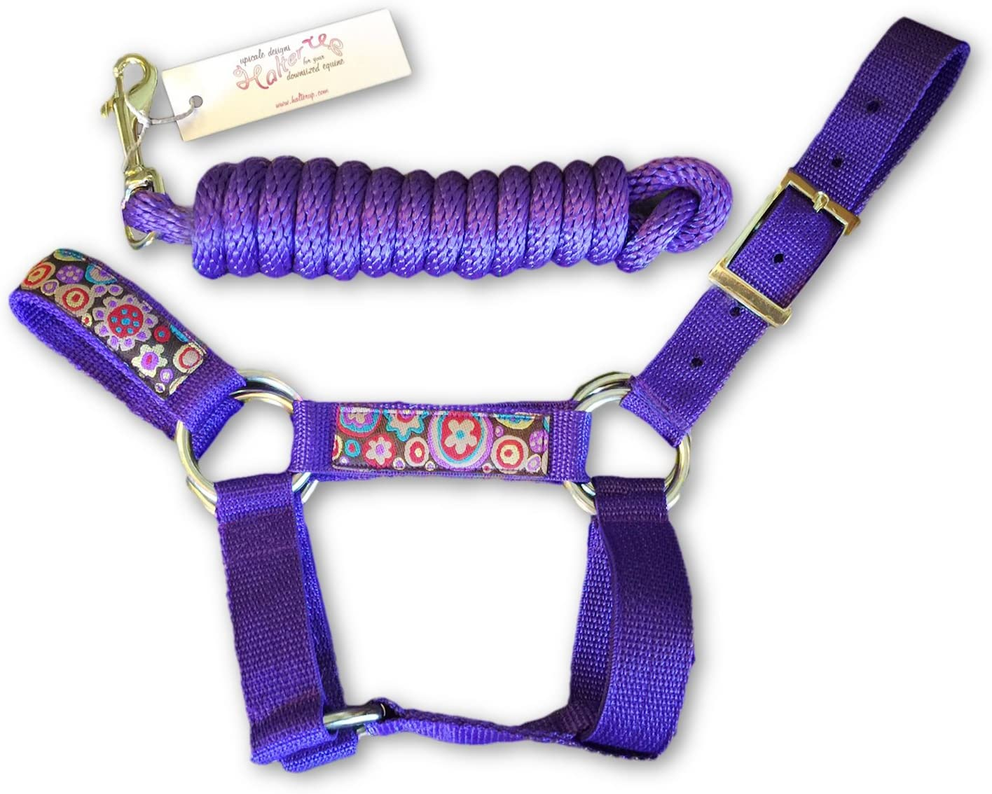 HalterUp Cute and Stylish Large special price Miniature Lead Halters Omaha Mall Rope Donkey