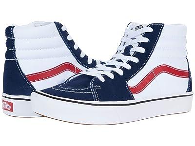 Vans ComfyCush SK8-Hi ((Tri-Tone) Dress Blues/White) Athletic Shoes