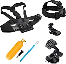 Lighten 4in1 Travel Accessories Bundle Kit for GoPro Hero 7 Black Silver White/6/5/4/3+/3/2/1/HERO(2018)/Fusion AKASO EK7000 APEMAN Campark VTIN 4K WiFi Action Camera Head Belt,Chest Strap