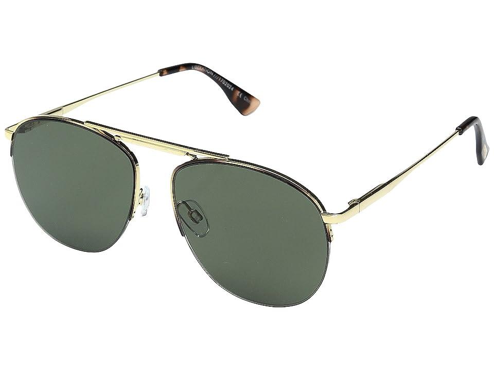 Le Specs Liberation (Dark Gold/Tortoise/Khaki Mono) Sport Sunglasses