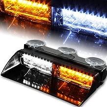 XT AUTO Car 16-led 18 Flashing Mode Emergency Vehicle Dash Warning Strobe Flash Light Yellow White
