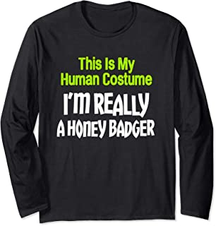 Human Costume I'm Really Honey Badger Halloween Long Sleeve