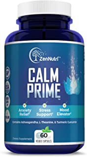 Calm Support, Anti Anxiety, Stress Relief, Mood Enhancer Supplement - Natural Vegan Formula - Premium Calmi...