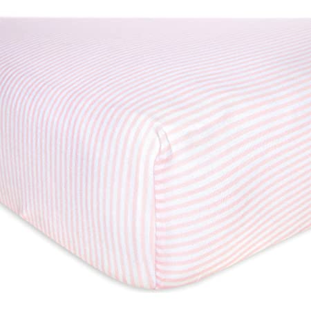 ORGANIC Pink Crib Sheet Girls Fitted Crib Sheet Changing Pad Cover Mini Crib Sheet Girls Cot Sheet Pink Bedding Set Nursery Bedding Set