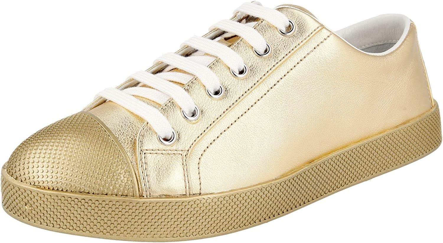 Prada Women's 3E6202 FCL F0522 Leather Sneaker