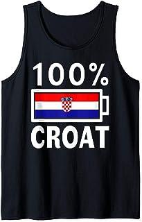 Croatia Flag Design | 100% Croat Battery Power Tee Tank Top