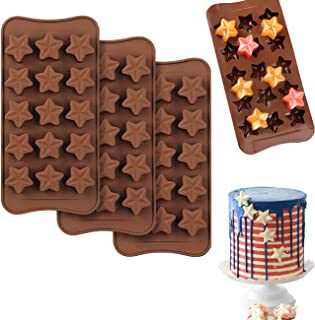 3D Star Shaped Wedding Cake Toppers Chocolate Cookie Silicone Mold Decoration