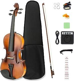 LAGRIMA 4/4 مبتدی ویولن برقی ، دست ساز ویولن آکوستیک دست ساز با برچسب یادداشت های ویولن مبتدی ، کیف ، کمان ، تیونر ، استراحت رزین و چانه ، آمپر قدرتمند