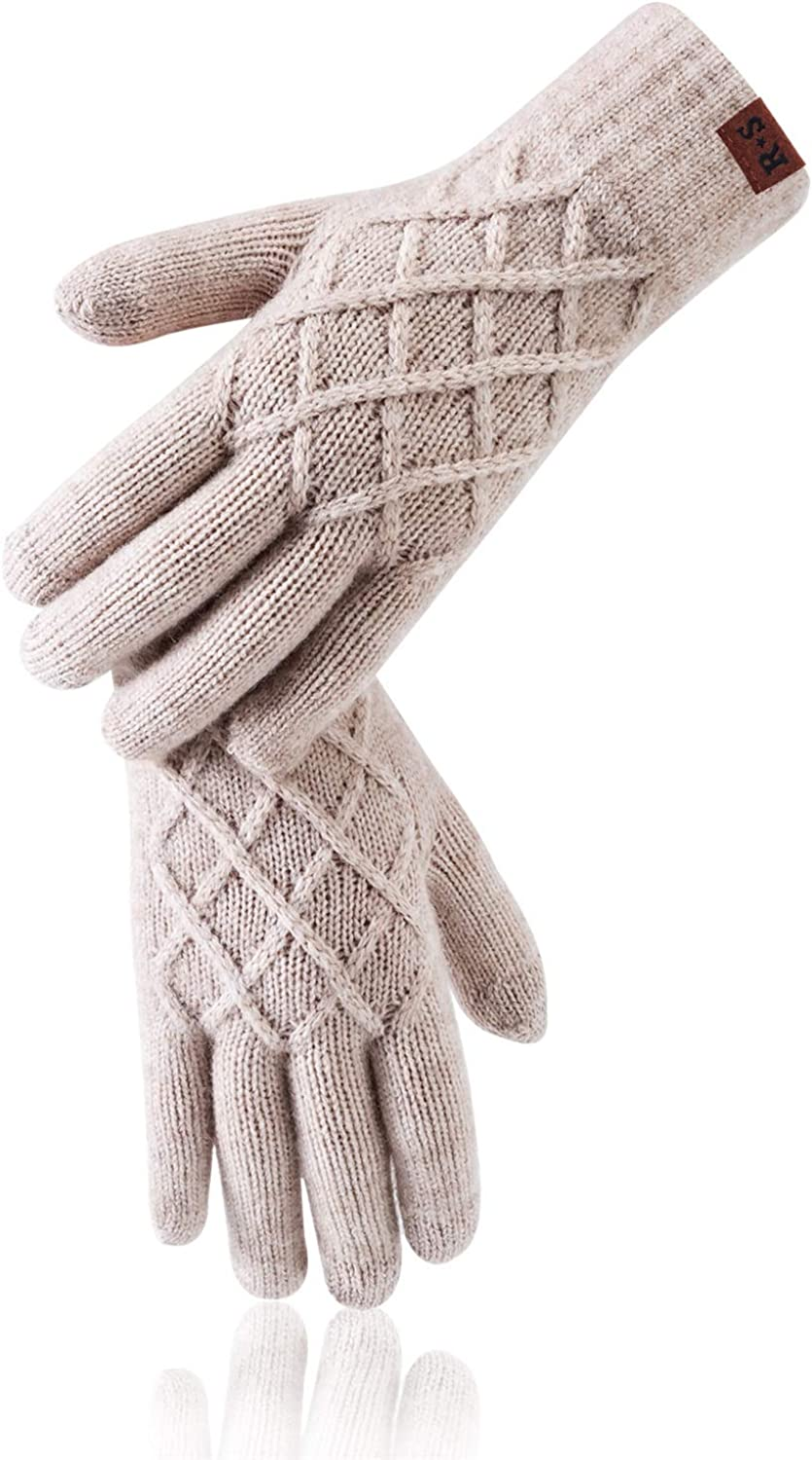 Reach Star Winter Womens Gloves Elastic Breathable Warm Gloves for Texting Driving