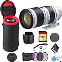 Canon EF 70-200mm f/2.8L is III USM Telephoto Zoom Lens with 32GB Memory Card -International Model