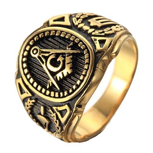 Freemason Ring: Amazon com