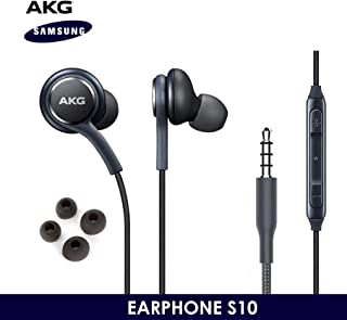 OEM ElloGear Earbuds Stereo Headphones for Samsung Galaxy S10 S10e Plus Cable - Designed by AKG - with Microphone and Volume Buttons (Grey)