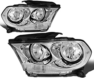 For Durango Pair Chrome Housing Clear Side Headlight/Lamps Left+Right