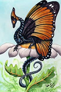 The Monarch by Carla Morrow Butterfly Dragon Fantasy Cool Wall Decor Art Print Poster 12x18